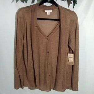 *NWT*  Cold Water Creek. Layered look Sweater.